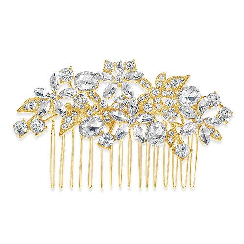 Bridal Gold Flower Hair Comb 142380