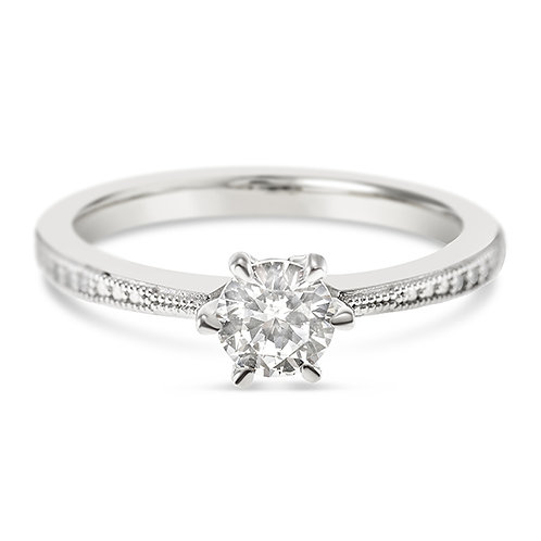 Bitter Sweet Sterling Silver Cubic Zirconia Ring 122441