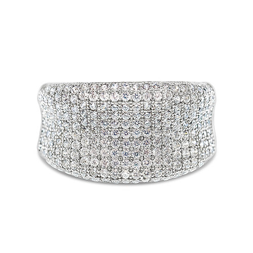 Bitter Sweet Sterling Silver Cubic Zirconia Ring 113913