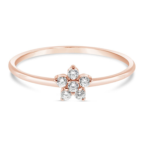 Bitter Sweet Rosegold Plated Sterling Silver Cubic Zirconia Ring 141531