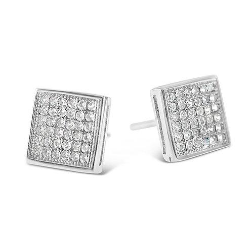 Bitter Sweet Sterling Silver Cubic Zirconia Earrings 142505