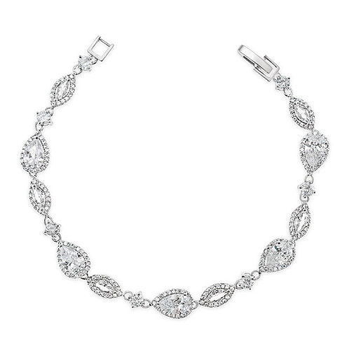 Bitter Sweet Bridal Cubic Zirconia Silver Bracelet 125964