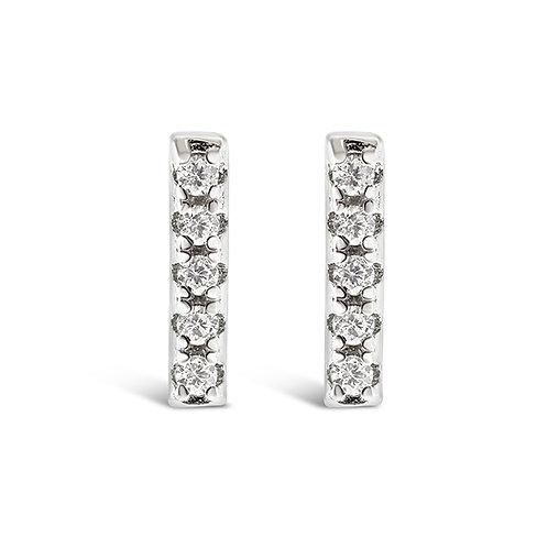Bitter Sweet Sterling Silver Cubic Zirconia Earrings 143304