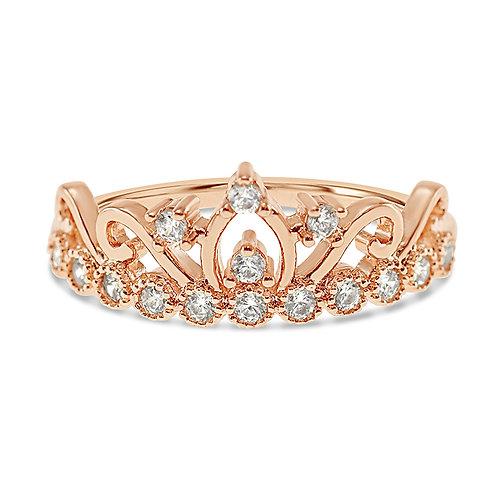 Bitter Sweet Fashion Rosegold Cubic Zirconia Ring 141942