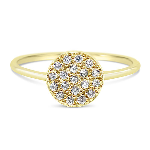 Gold Plated Cubic Zirconia Ring 131355