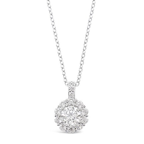 Bitter Sweet Sterling Silver Cubic Zirconia Round Necklace 141370