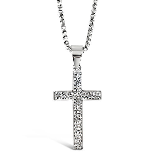 Bitter Sweet Stainless Steel Silver Necklace 136323