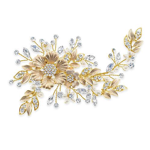 Bridal gold Hair clip 137611