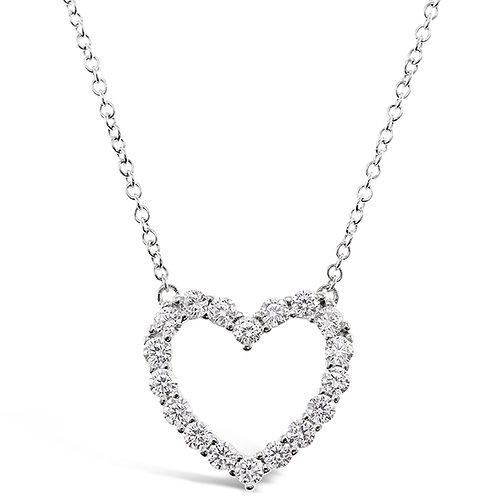 Bitter Sweet Sterling Silver Cubic Zirconia Heart Necklace 141797
