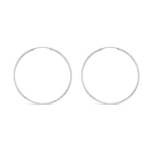 Sterling Silver Plain 30mm Hoops Earrings 141814