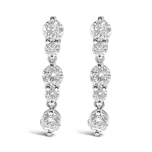 Bitter Sweet Sterling Silver Cubic Zirconia Round Earrings 108888