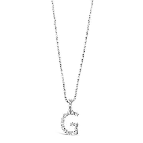 Bitter Sweet Jewelery Stainless Steel Cubic Zirconia Initial G Necklace 142315