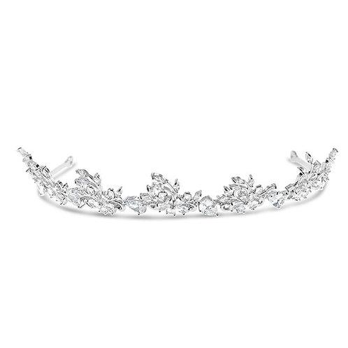 Bridal Silver Cubic Zirconia Tiara