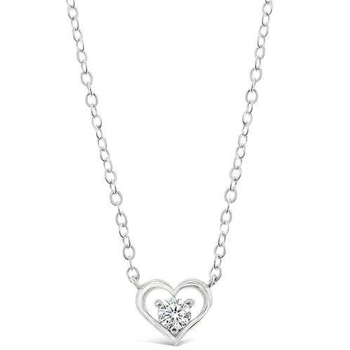 Bitter Sweet Sterling Silver Cubic Zirconia Heart Necklace 143400