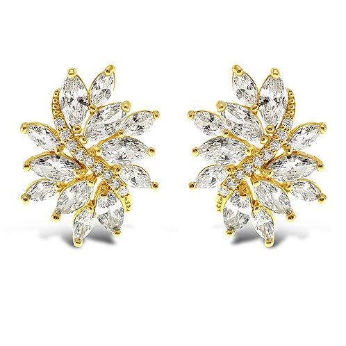 Bitter Sweet Gold Cubic Zirconia Stud Earrings 142889