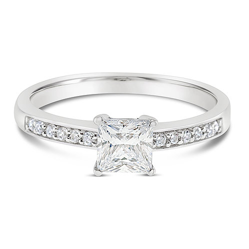 Bitter Sweet Sterling Silver Cubic Zirconia Ring 118998