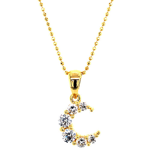Gold Plated Sterling Silver Cubic Zirconia Necklace 139414