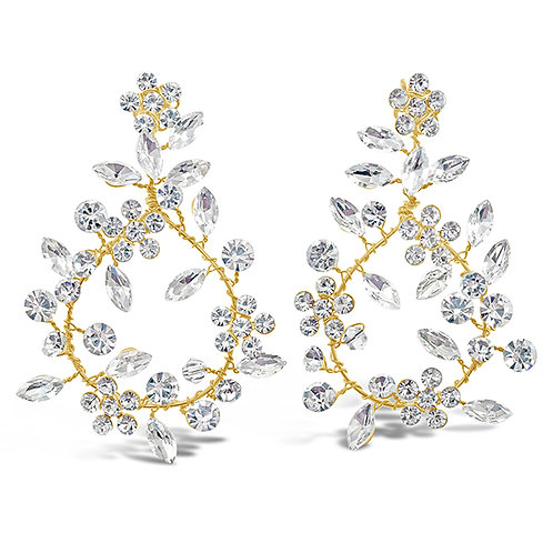 Bridal Gold Crystal Wired Earrings 137090-10126820