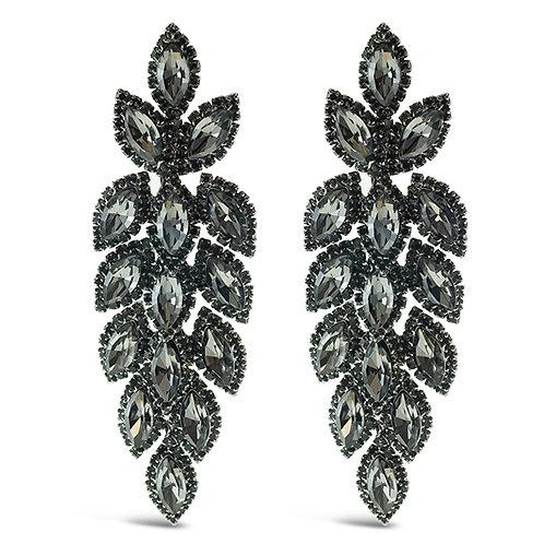 Fashion Anita Crystal Leaf Drop Earrings 140981