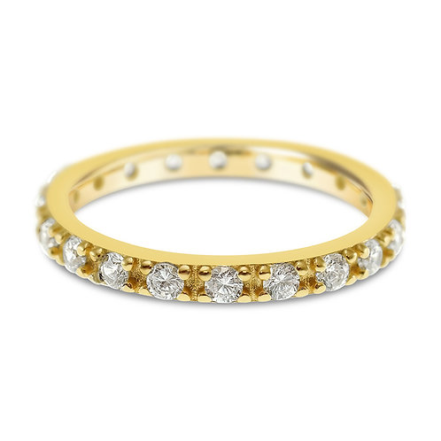 Bitter Sweet Gold Plated Sterling Silver Cubic Zirconia Ring 141517