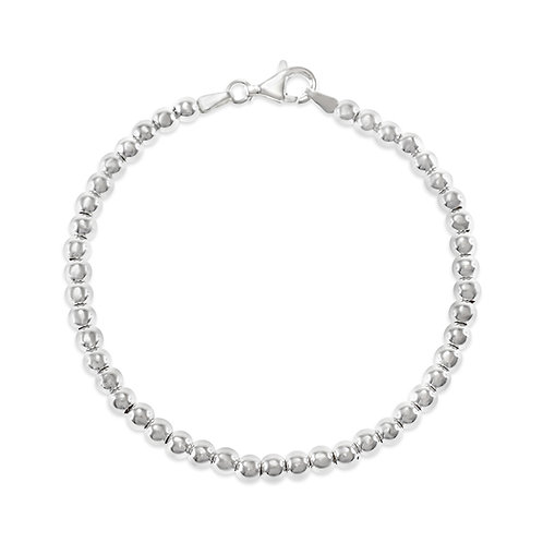Bitter Sweet Sterling Silver Beads 7 Inches Bracelet 115842