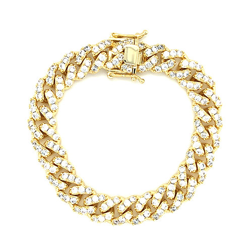 "Bitter Sweet Cubic Zirconia Cuban Link 7"" Inches Bracelet 142982"