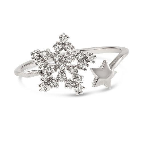 Bitter Sweet Fashion Silver Cubic Zirconia Ring 141916