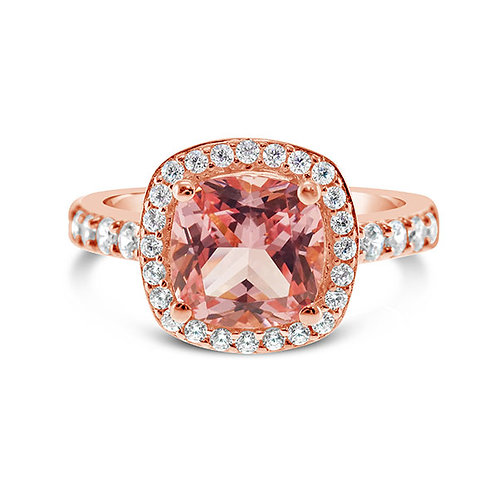Rose Gold Plated Sterling Silver Cubic Zirconia Ring 132092