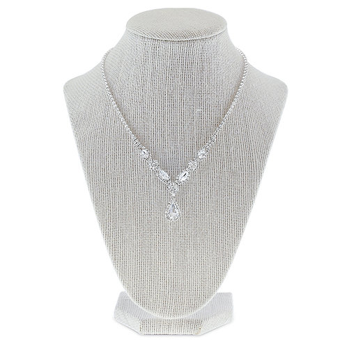Rhinestones Necklace & Earrings Set