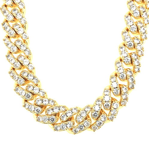 """Bitter Sweet Cubic Zirconia Cuban Link 18"""" Inches Necklace 142845"""