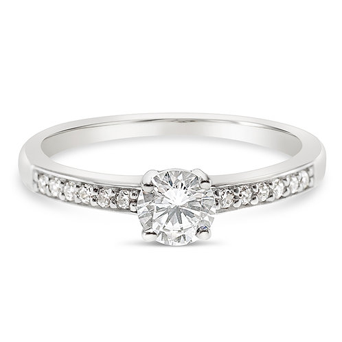Bitter Sweet Sterling Silver Cubic Zirconia Ring 131338