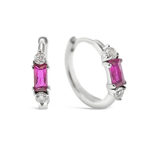 Sterling Silver Cubic Zirconia Earrings 141607
