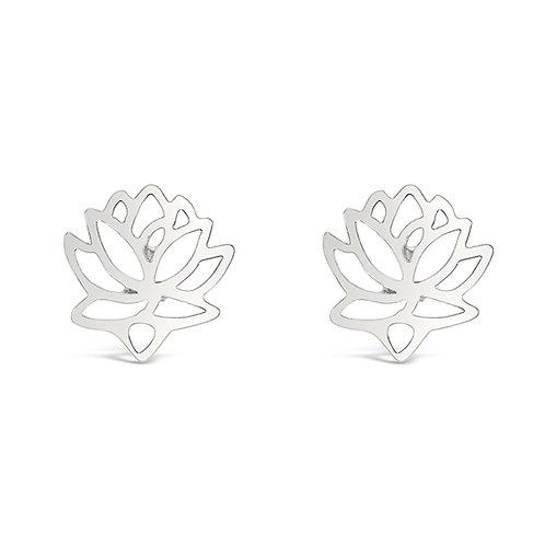 Bitter Sweet Sterling Silver Lotus Earrings 143307