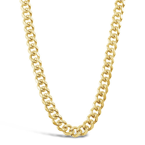 Bitter Sweet Jewellery Stainless Steel Curb Gold Necklace 142337