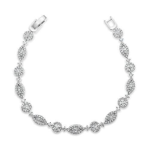 Bridal Silver Cubic Zirconia Bracelet 137420