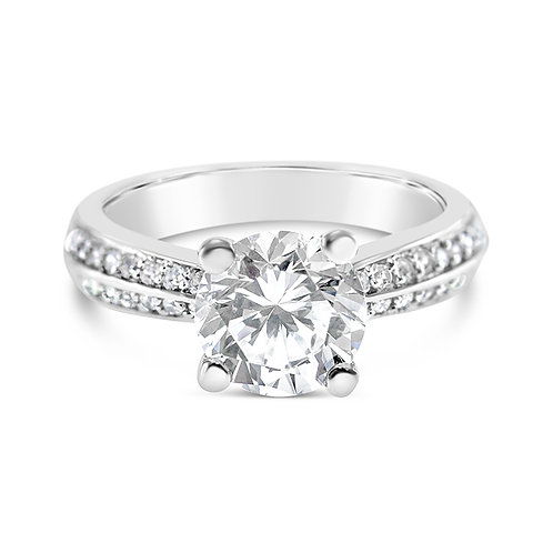 Bitter Sweet Sterling Silver Cubic Zirconia Ring 132999