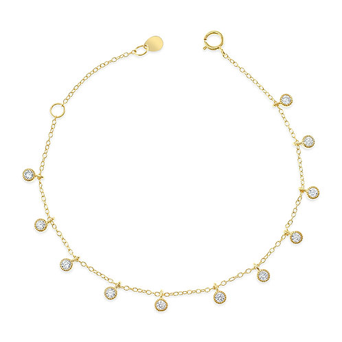 Bitter Sweet Gold Plated Sterling Silver Cubic Zirconia Bracelet 141095