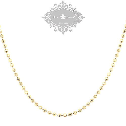 Gold Plated Sterling Silver Bead Chain 142224