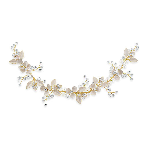 Bridal Gold Leaf Hair Vine 142065