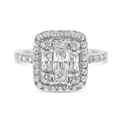 Sterling Silver Cubic Zirconia Ring 132218