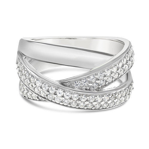 Bitter Sweet Sterling Silver Cubic Zirconia Ring 143192