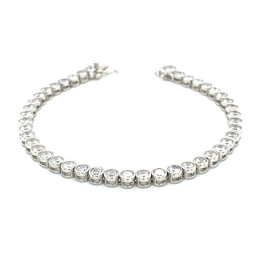 Bitter Sweet Sterling Silver Cubic Zirconia Bracelet 141750