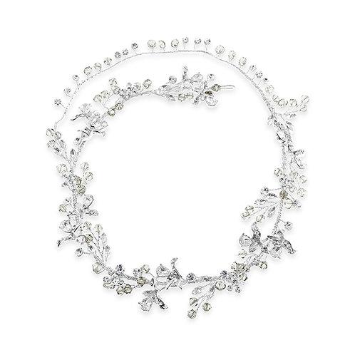 Bridal Silver leaf Hair Vine 133298