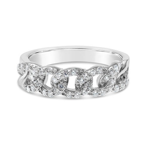 Bitter Sweet Sterling Silver Cubic Zirconia Ring 141348
