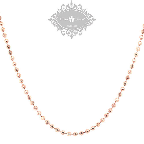 Rosegold Plated Sterling Silver Bead Chain 142223