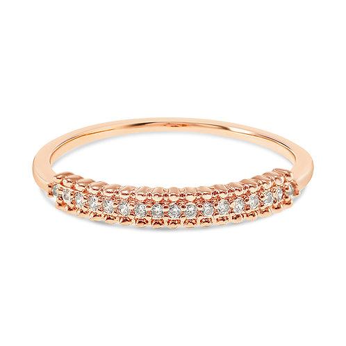 Bitter Sweet Fashion Rosegold Cubic Zirconia Ring 141903