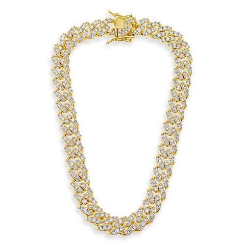 Fashion Cubic Zirconia Miami Cuban Link Necklace 142287