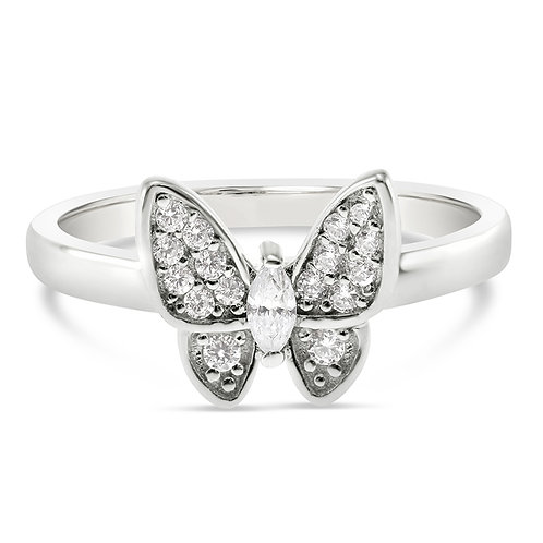 Bitter Sweet Sterling Silver Cubic Zirconia Ring 131318