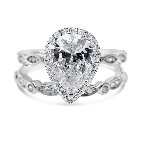 Bitter Sweet Sterling Silver Cubic Zirconia Set Ring 141355