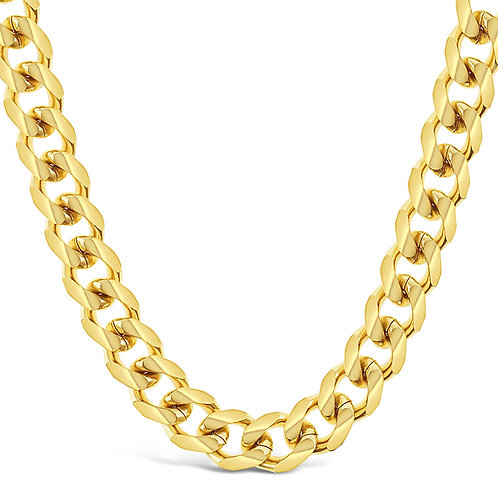 Bitter Sweet Stainless Steel Gold Cuban 6mm Chain 141496